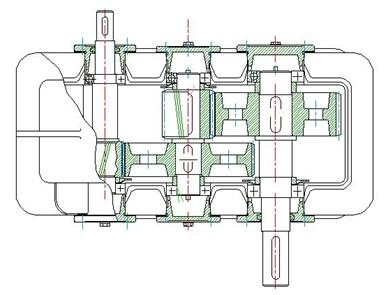 浩辰教程机械之减速器俯视图绘制图片