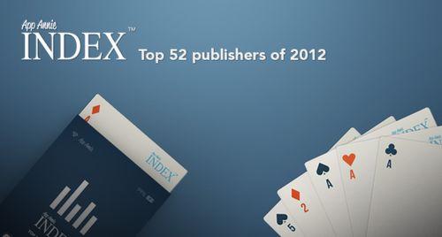 2012年最赚钱的52家移动应用开发商