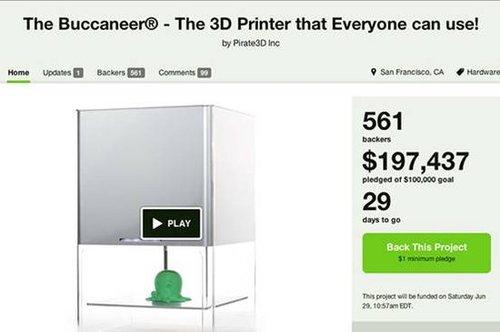 廉价版3D打印机问世 售价约人民币2480元