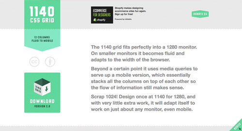 1140px CSS Grid System
