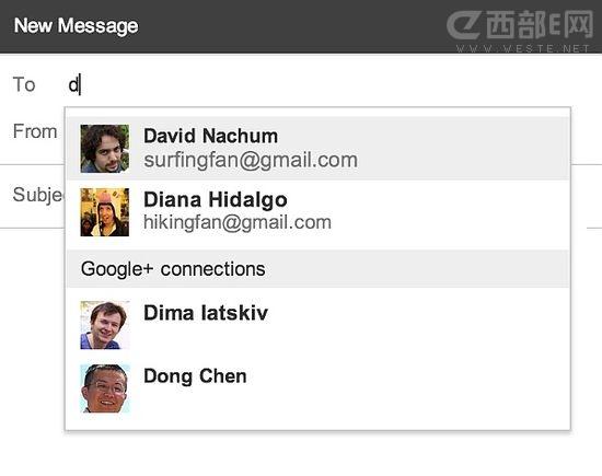 Gmail用户可以直接向Google+好友发邮件了